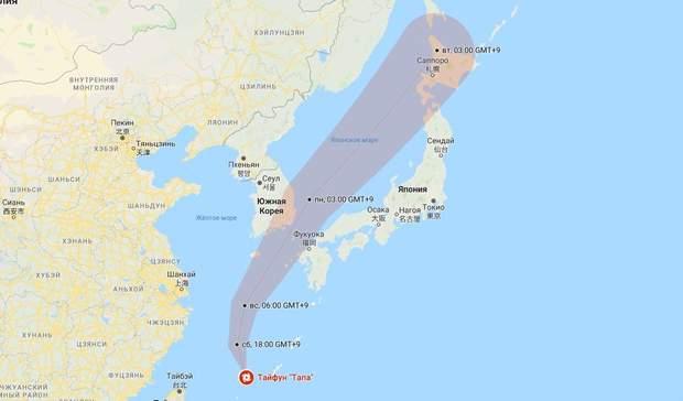 тайфун тапа японія