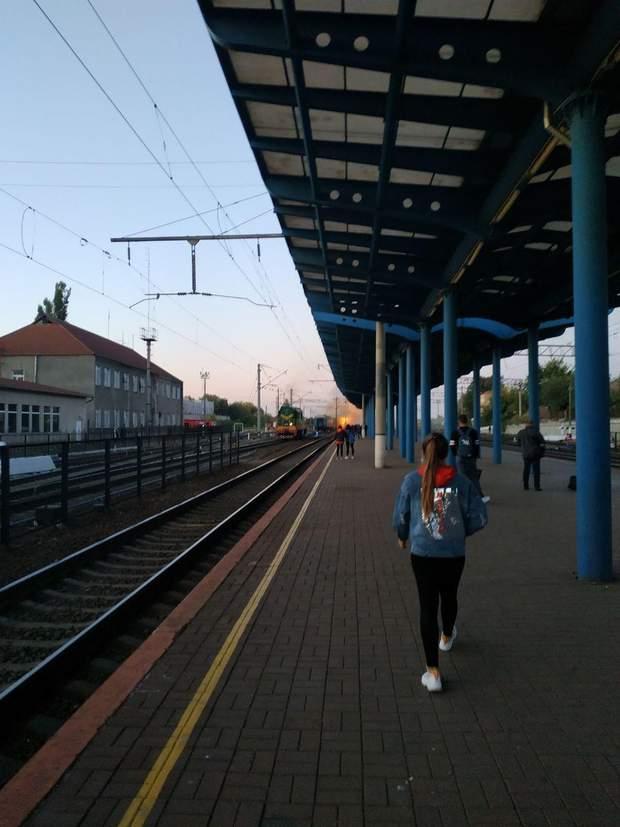 пожежа Вінниця вокзал поїзд