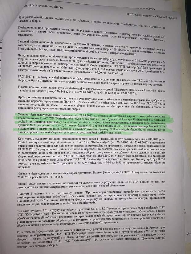 """Судебная волокита два года: """"Киевгорстрой"""" борется за права на свою долю в акционерном обществе"""