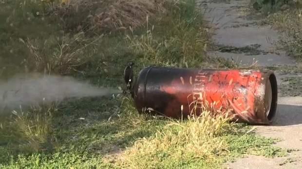 Газовий балон винесли на вулицю, аби запобігти вибуху