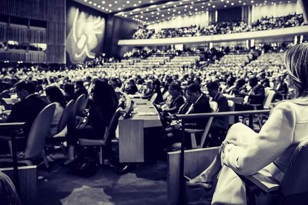 Меланія Трамп у залі Генасамблеї ООН