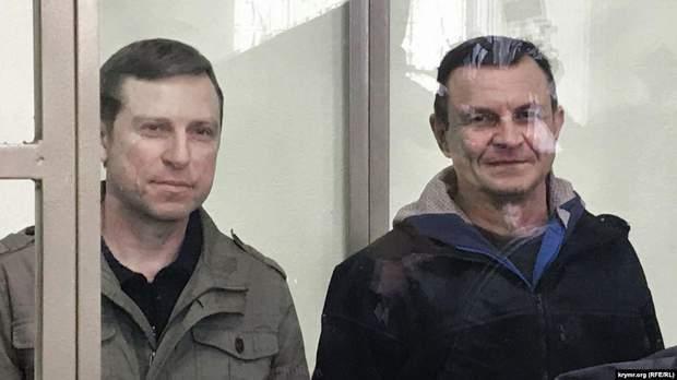 Осужденные по «делу «украинских диверсантов» Алексей Бессарабов (л) и Владимир Дудка (п)