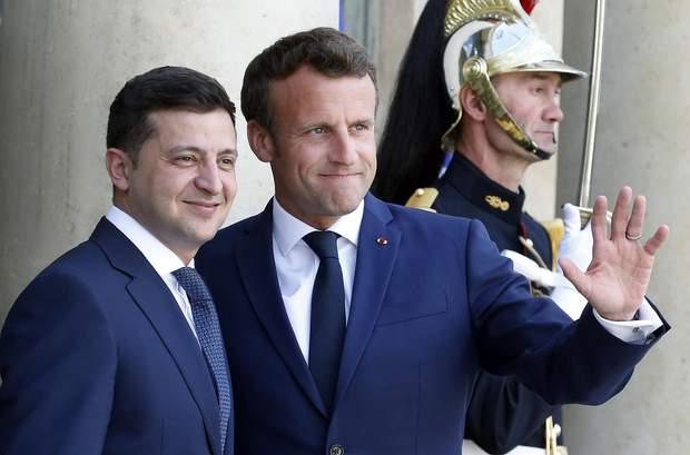 Зеленский с президентом Франции