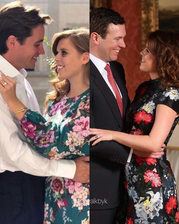 Фото з заручин принцеси Беатріс порівнюють з портретами принца Гаррі та Меган Маркл