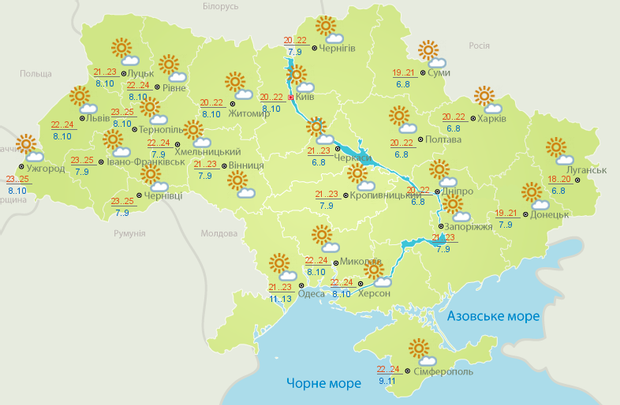 погода 2 жовтня україна прогноз