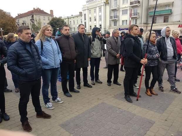 Формула Штайнмаєра, протест, Тернопіль, Донбас