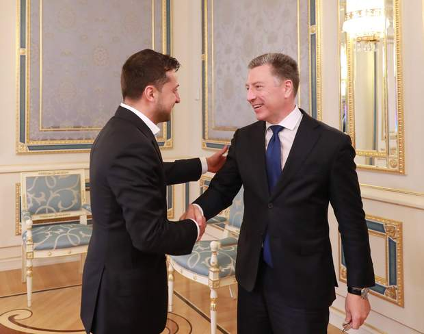 Володимир Зеленський і Курт Волкер
