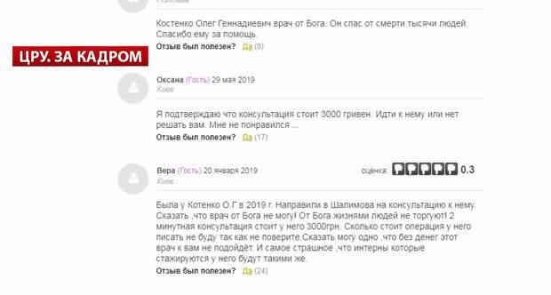Вартість лікування в Олега Котенка