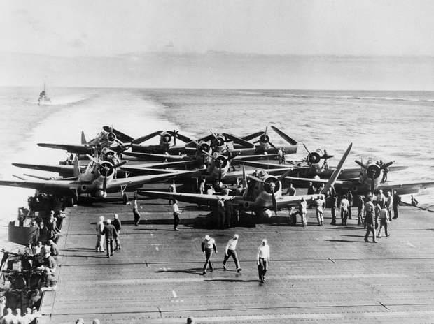 Літаки, які були задяні в битві за Мідвей