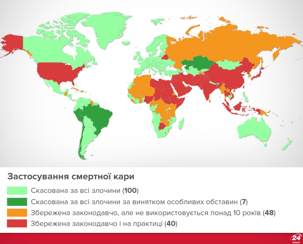 Смертна кара: карта