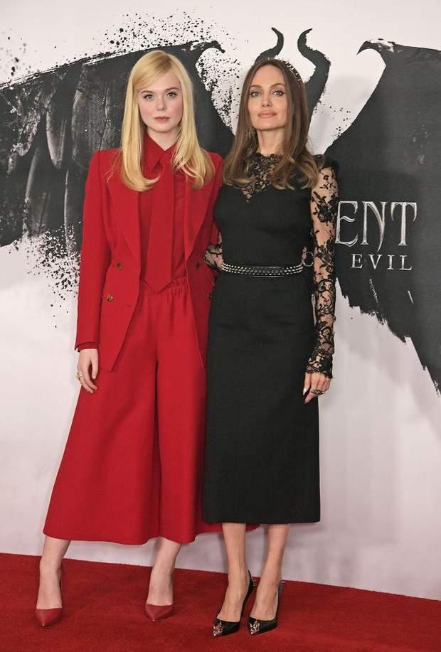 Анджеліна Джолі та Ель Феннінг у Лондоні