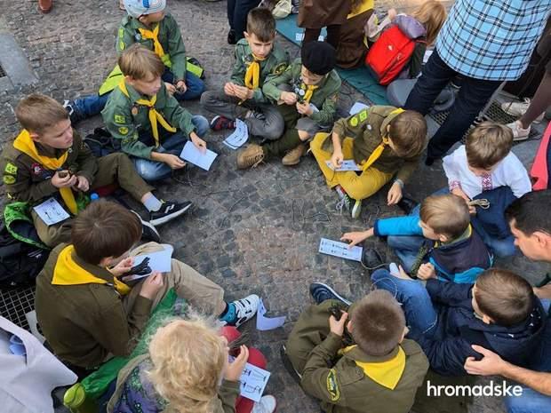 діти київ рекорд браслет війна донбас