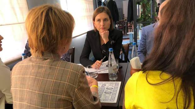 Ганна Новосад на зустрічі