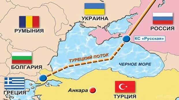 Турецький потік, карта