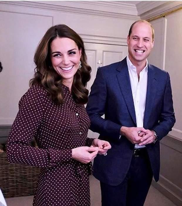 Принц Вільям та Кейт Міддлтон на зустрічі у 2018 році