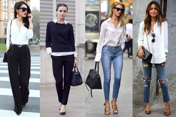 Як носити білу сорочку зі штанами