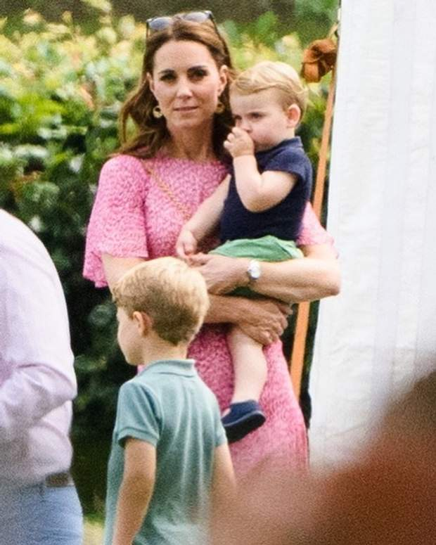 Кейт Міддлтон з принцом Луї