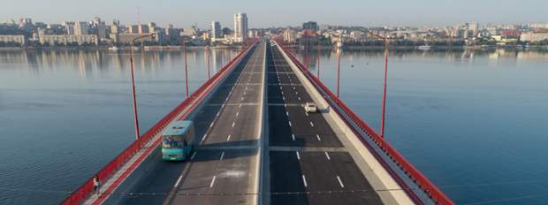 Відремонтований міст у Дніпрі / фото