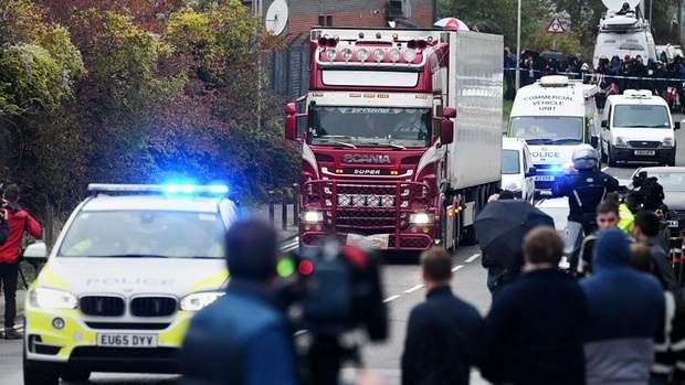 Вантажівка з 39 трупами у Британії: / Getty images