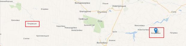 Порушення, Петрівське, Богданівка, розведення сил, Донбас