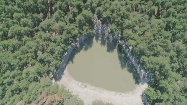 Озеро в місті Мерефі на Харківщині