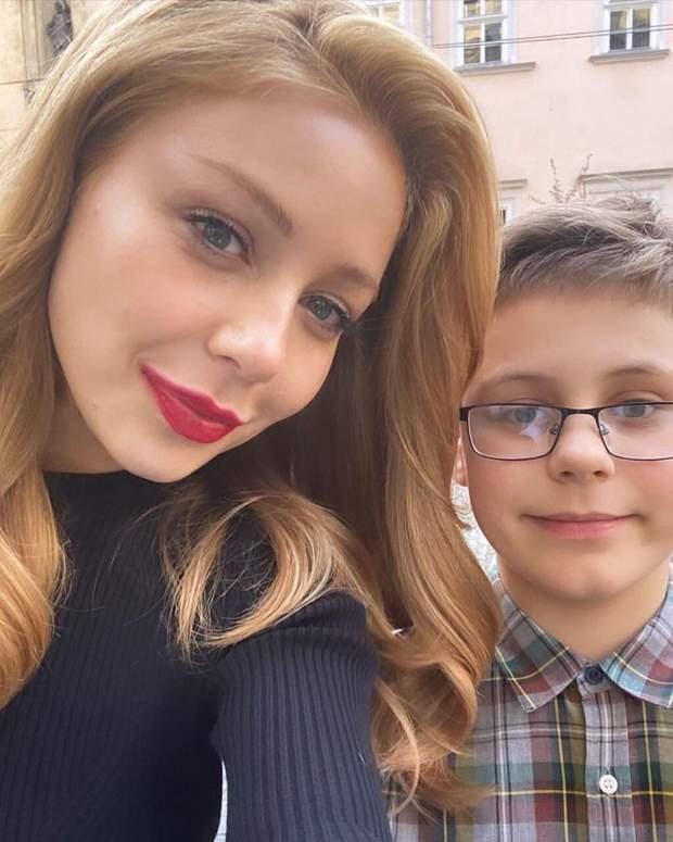 Тіна Кароль з сином у Львові