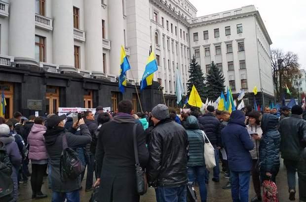 Протест підприємців під ОПУ