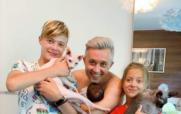 Сергій Бабкін з дітьми