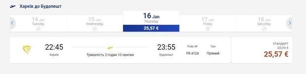 Квитки Харків Будапешт Угорщина авіа аеропорт Ryanair