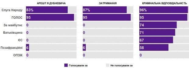 Голосування в Раді по Дубневичу