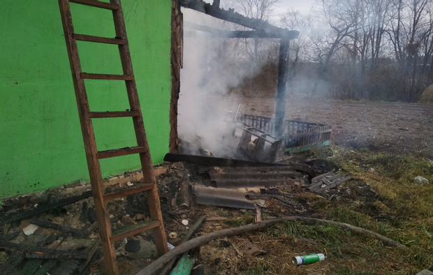 Пожежа спалахнула в будинку на Житомирщині