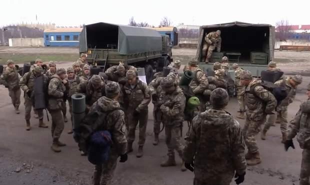 Бійці Військової служби правопорядку в зоні ООС