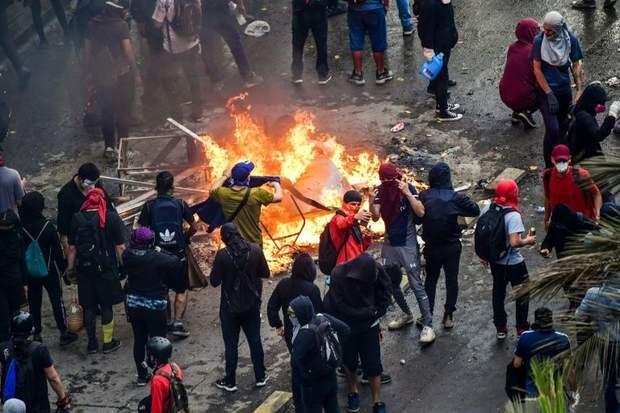чилі пожежа протести