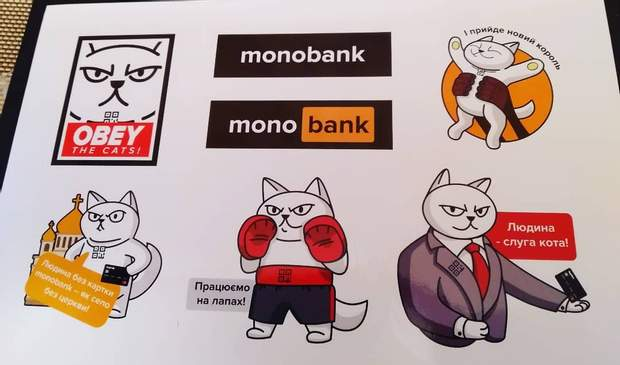 монобанк наклейки