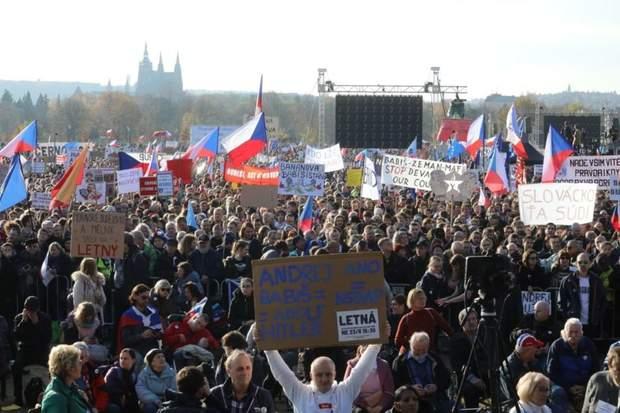 Протести у Чехії
