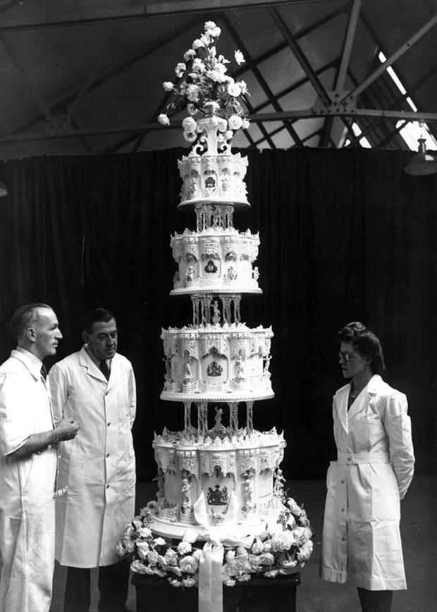 Весільний торт Єлизавети ІІ і Філіпа
