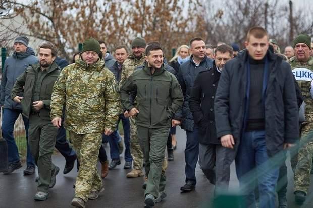 Відкриття Зеленським мосту в Станиці Луганській