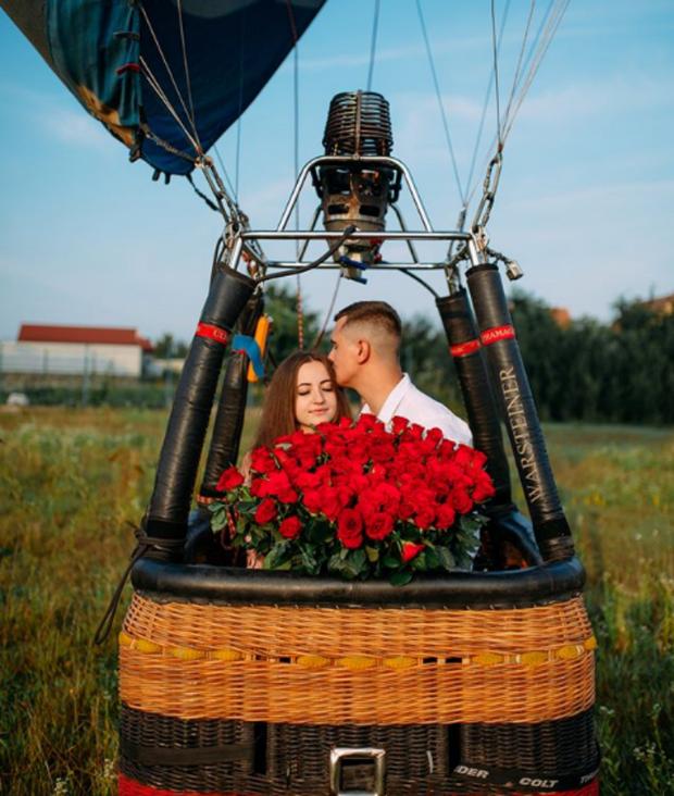 Освідчення на повітряній кулі/ Фото tn.oblast.online