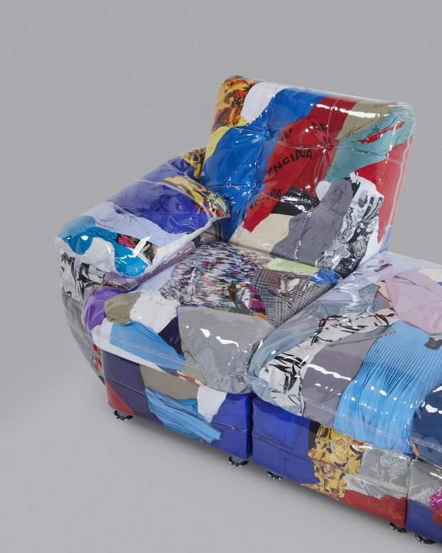 Дизайнер створив диван зі старих речей від Balenciaga: фото