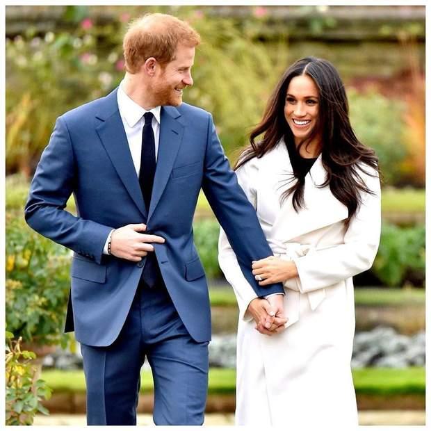Принц Гаррі та Меган Маркл в день заручин
