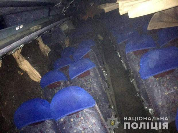 Рейсовий, автобус, Донбас, перекинувся, ДТП