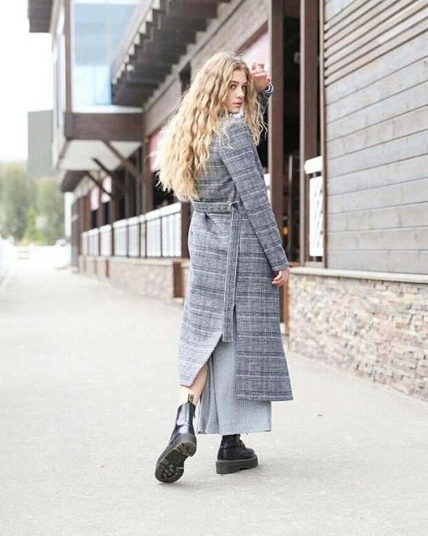 Пальто прямого крою