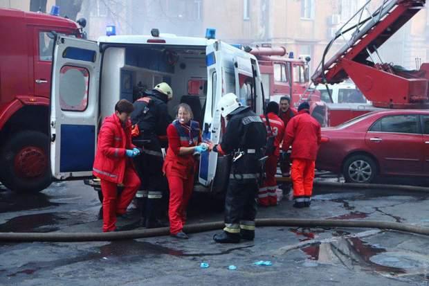 Пожежа в Одесі на Троїцькій