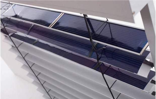 Жалюзі з сонячними панелями
