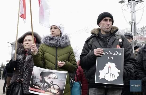 протест Білорусь Мінськ