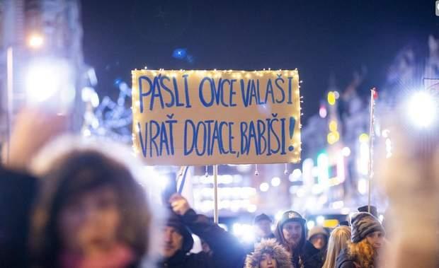 чехія протест
