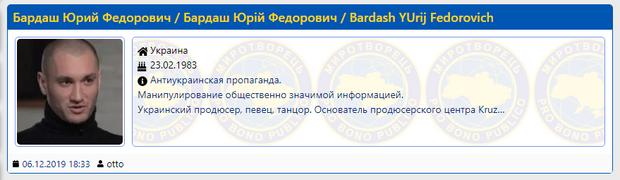 Юрій Бардаш потрапив до