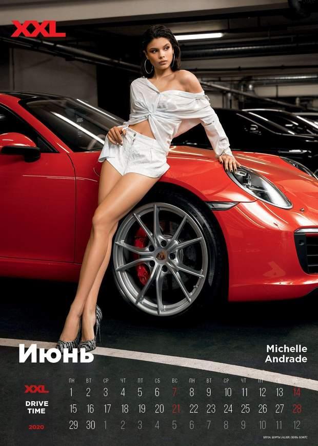 Мішель Андраде в еротичному календарі