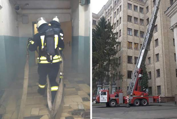 Тренувальна пожежа в Харкові