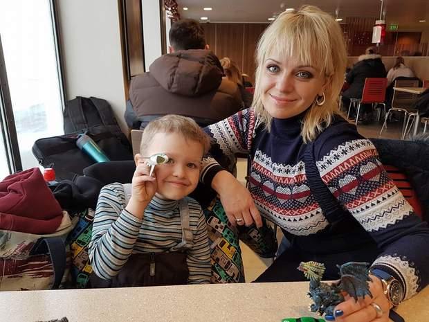 Ірма Вітовська з сином